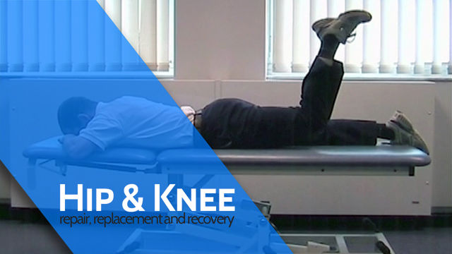 Prone Lying Hip Extension with Knee Flexion